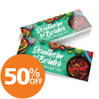 50% Off Custom Postcards